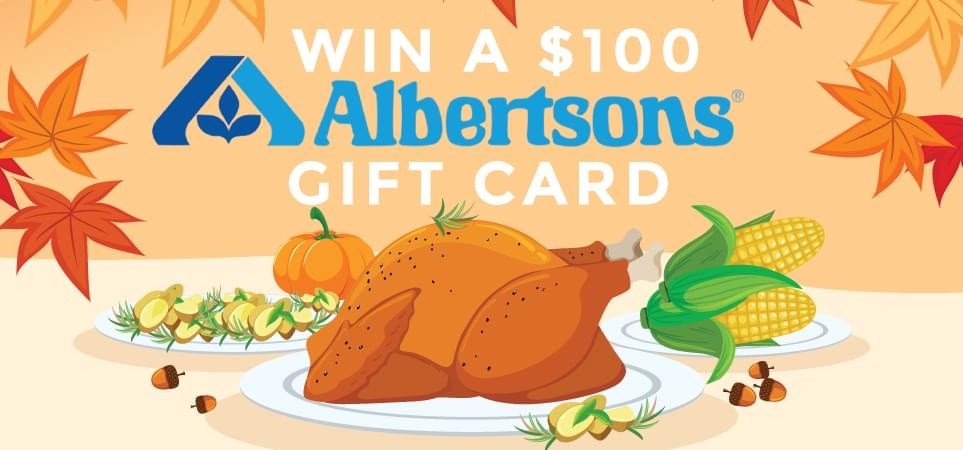 Win a $100 Albertsons Gift Card – Official Rules