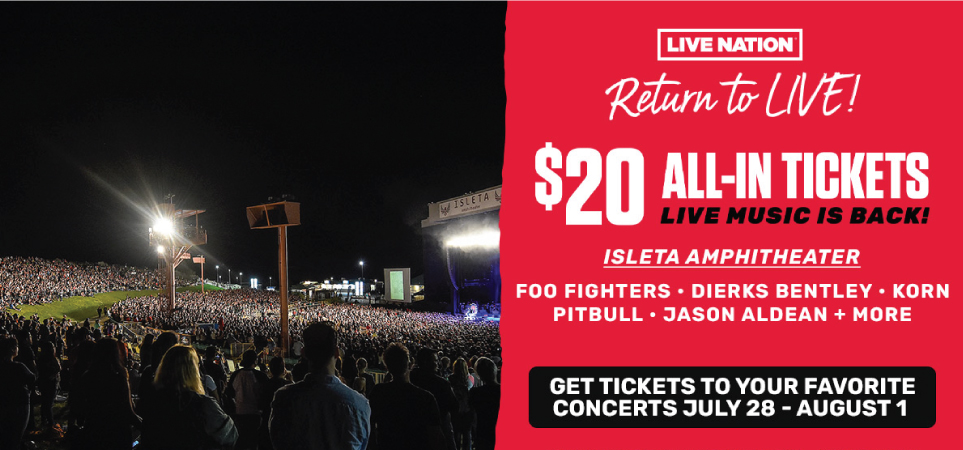 Return To LIVE – $20 All-In Tickets!