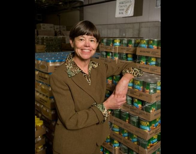 Jen chats with Jean McMurray from the Worcester County Food Bank