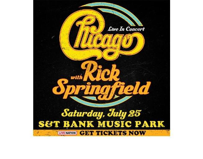 Chicago / Rick Springfield July 25th S&T Bank Music Park