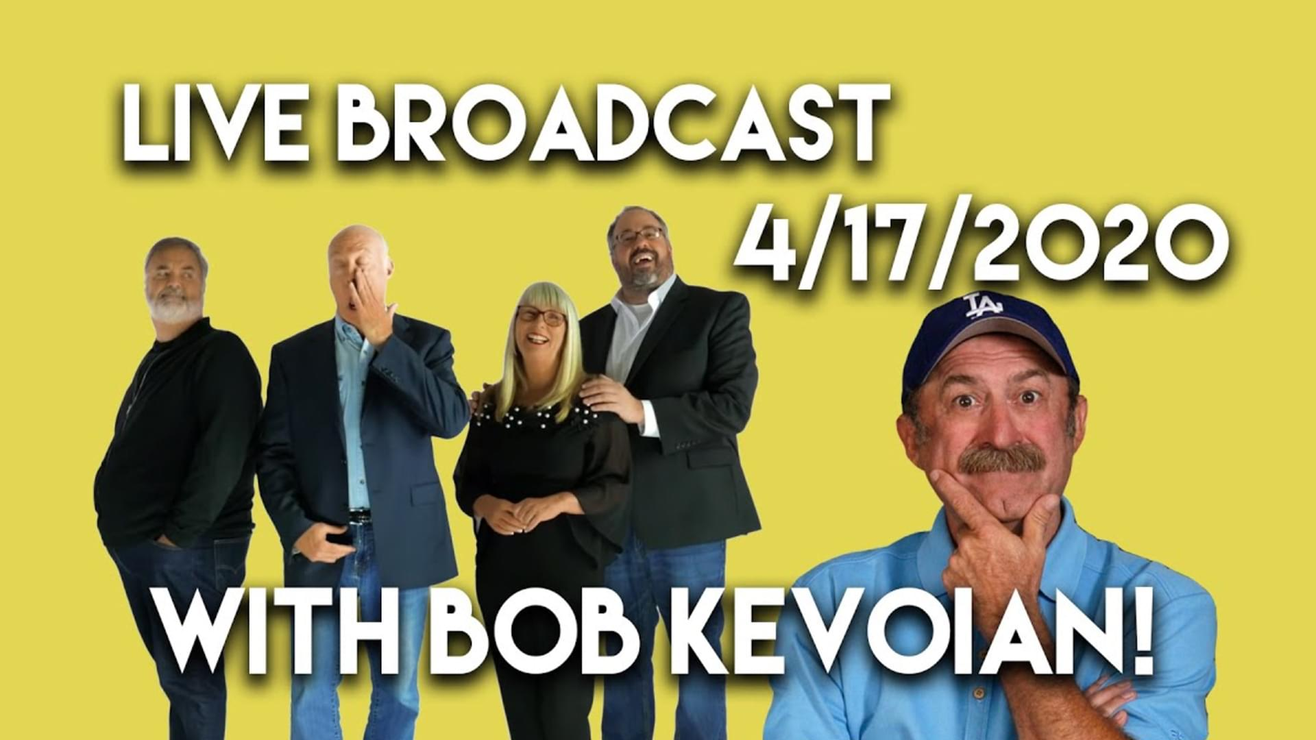 Watch the April 17th Live Broadcast with Bob Kevoian as guest!