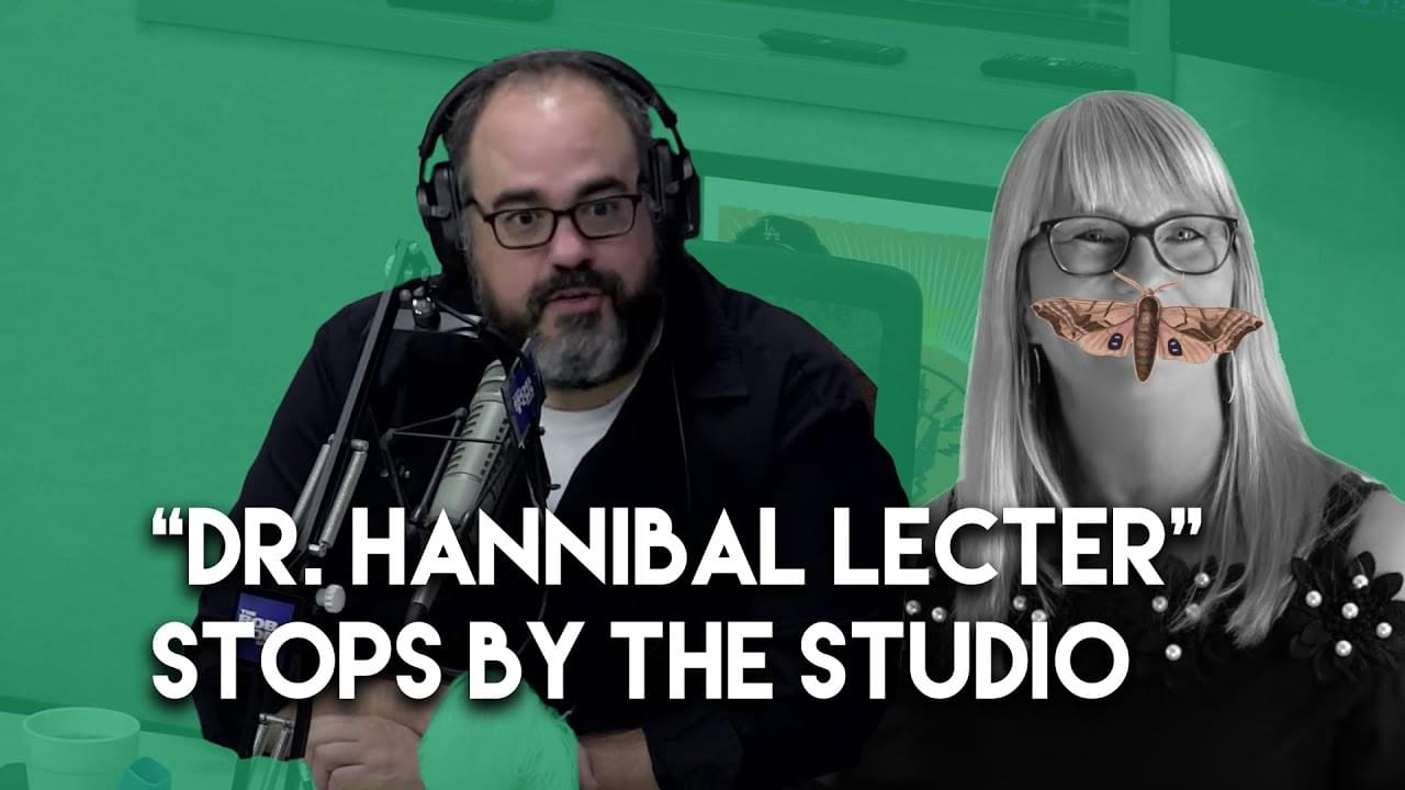 """Dr. Hannibal Lecter"" Stops By The Studio!"