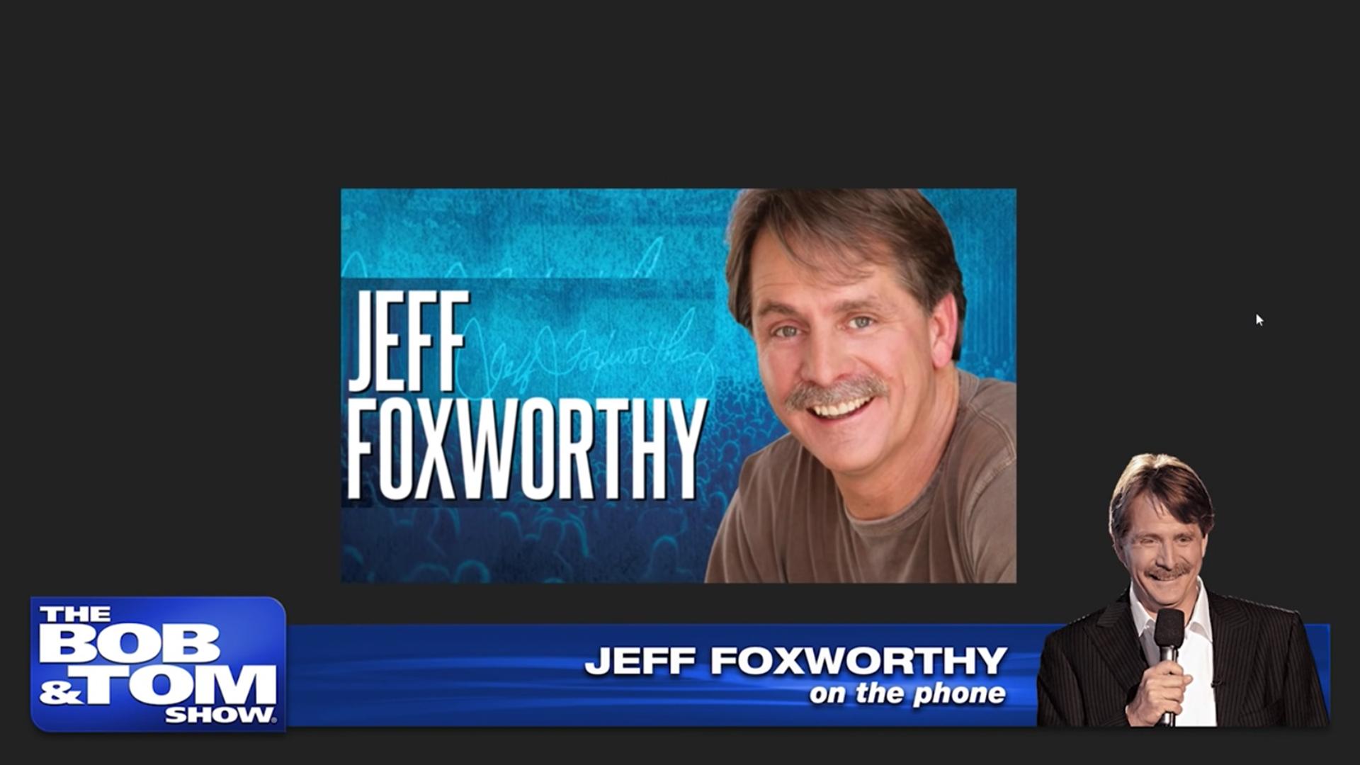 Comedian Jeff Foxworthy   B&T Tonight