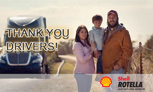 A BIG Thank You to Drivers During Truck Driver Appreciation from Shell Rotella