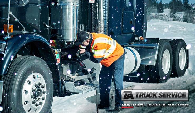 Roadside Safety Tips for Winter Breakdowns from TA Truck Service
