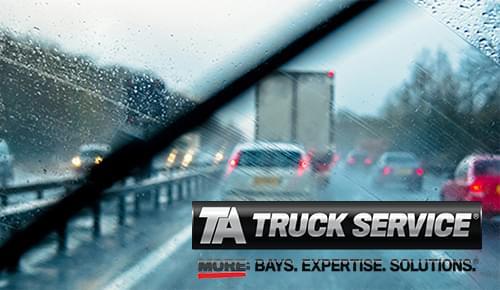 Windshield Wiper Maintenance Tips from TA Truck Service