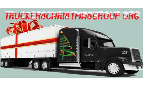Eric Harley talks with Tom Kyrk of Truckers Christmas Group