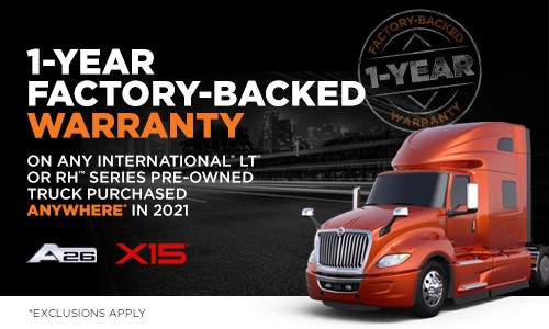 Listen here to Eric Harley talking to Josh Adams with International Used Trucks talking about their Factory Backed Warranty
