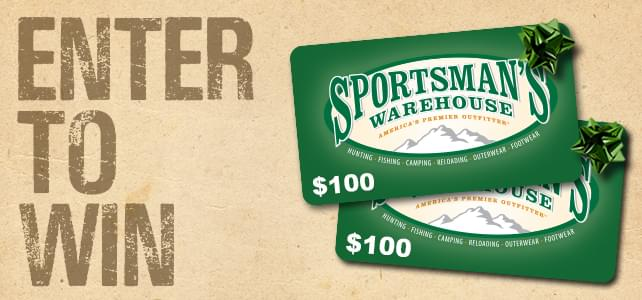 Sportsman's Warehouse Gift Card Giveaway Rules