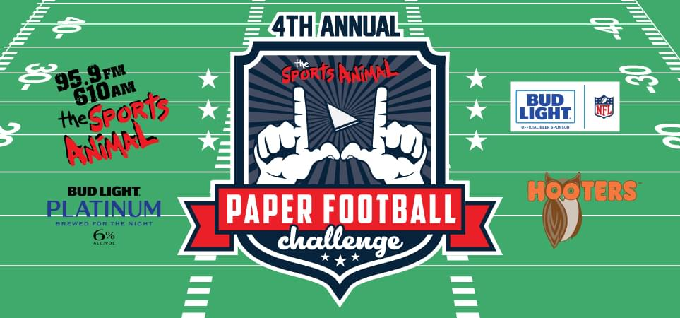 4th Annual Great Paper Football Challenge Contest Official Rules