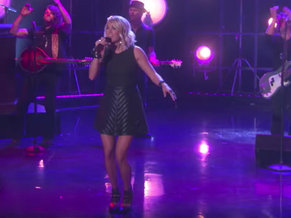 "Watch Carrie Underwood's TV Debut of New Single ""Dirty Laundry"" on ""Ellen"""