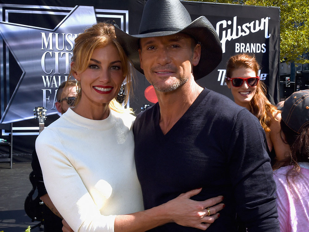 Faith Hill and Tim McGraw Receive Stars on Music City Walk of Fame
