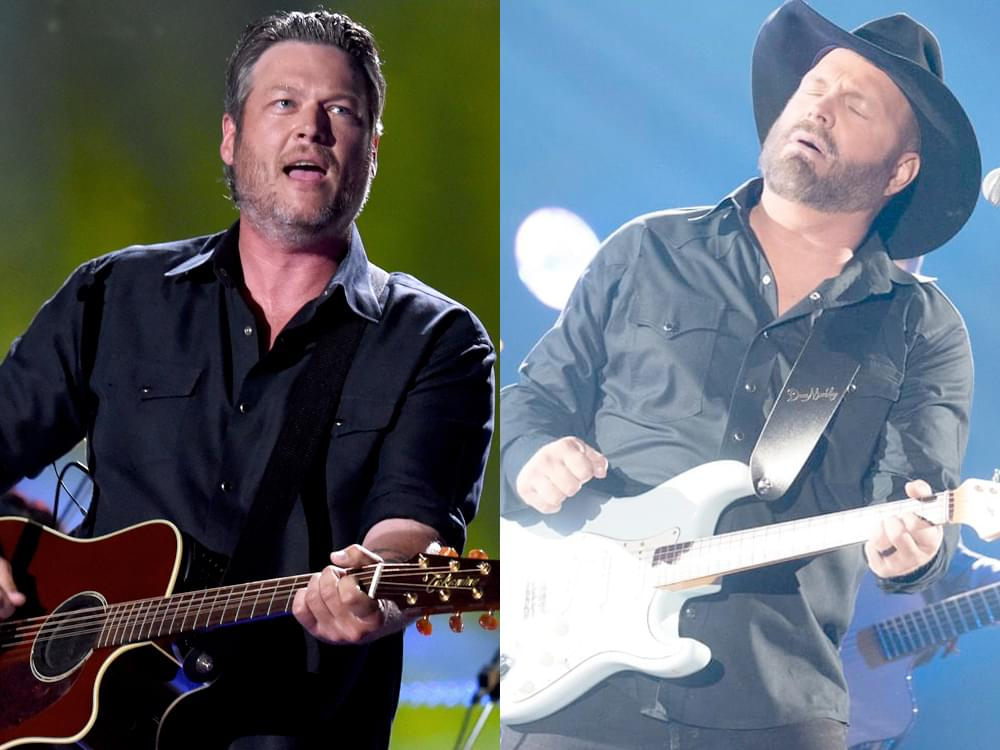 "Watch Garth Brooks & Blake Shelton Go With the Flow in New ""Dive Bar"" Video"