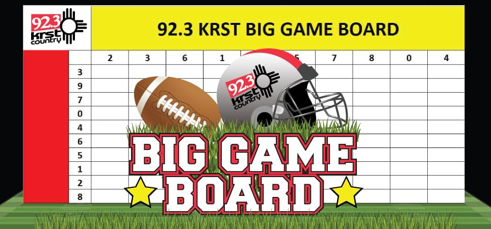 Big Game Board – Win Concert Tickets!