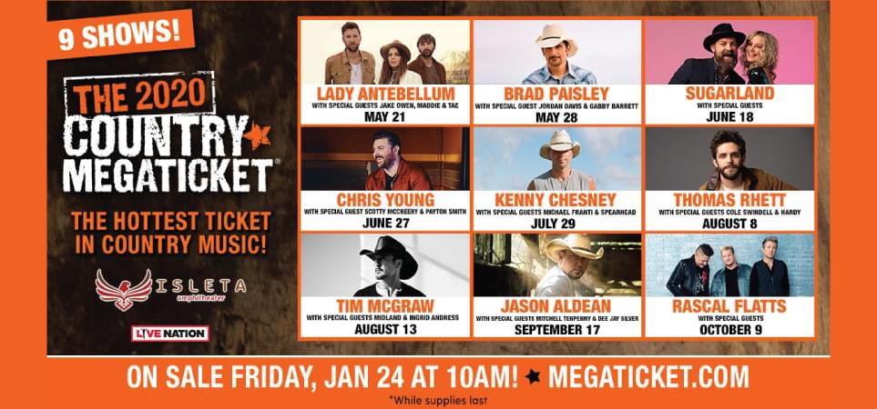 The 2020 Country MEGATICKET!