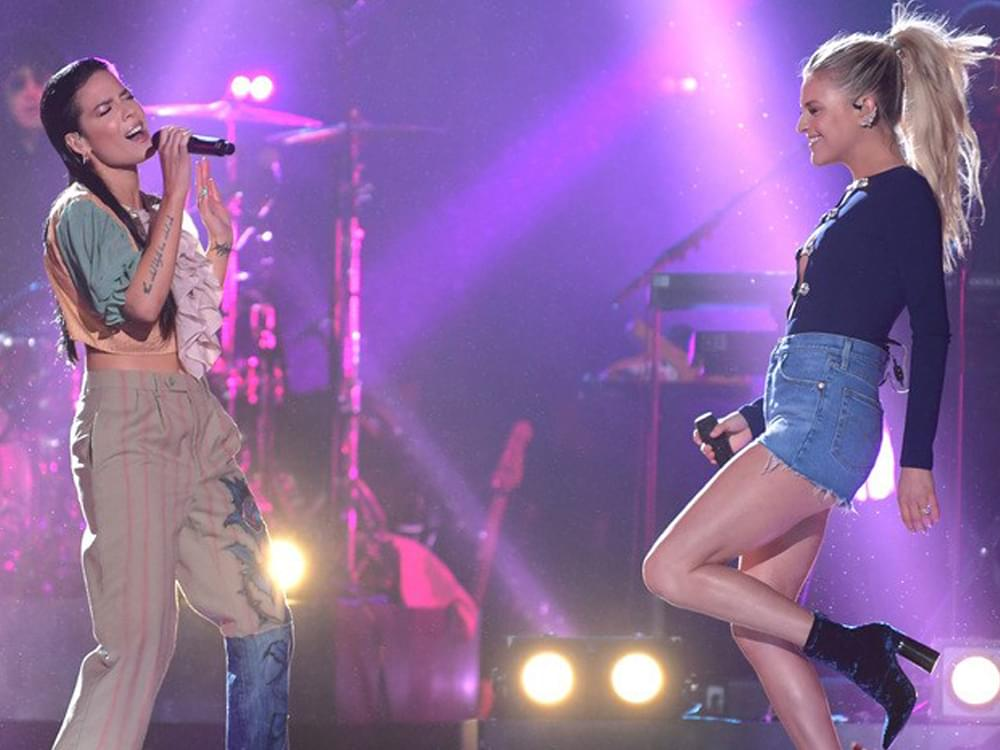 "Watch Kelsea Ballerini & Halsey Perform ""Graveyard"" From Upcoming Episode of ""CMT Crossroads"""