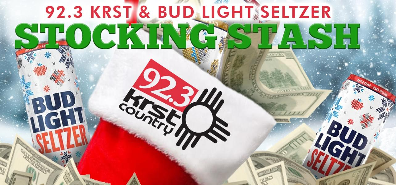 "92.3 KRST's ""Bud Light seltzer Stocking Stash "" Contest – Official Rules"