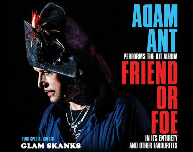 Adam Ant at Uptown Theater September 20th