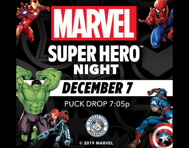 Marvel Super Hero Night with The Mavericks – Dec. 7
