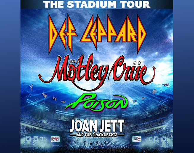 POSTPONED – Def Leppard Mötley Crüe with Poison and Joan Jett