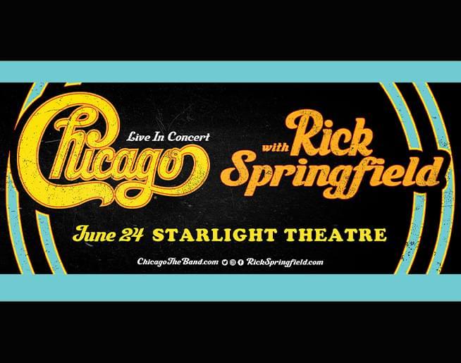 Chicago with Rick Springfield  June 24, 2020 | Starlight Theatre