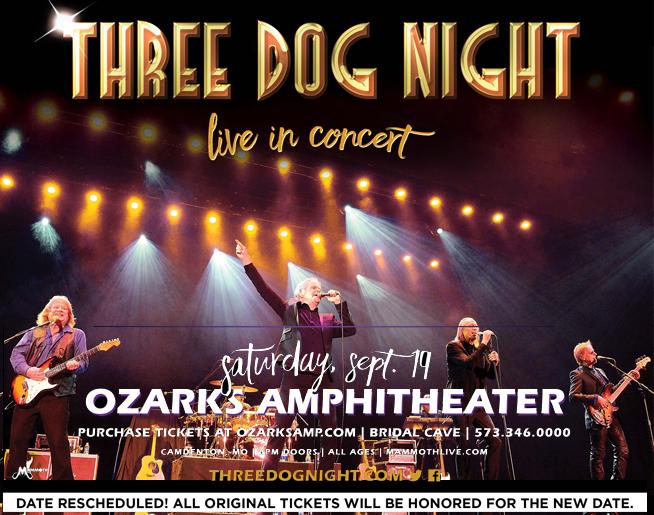 Three Dog Night at Ozarks Amphitheater -September 19th