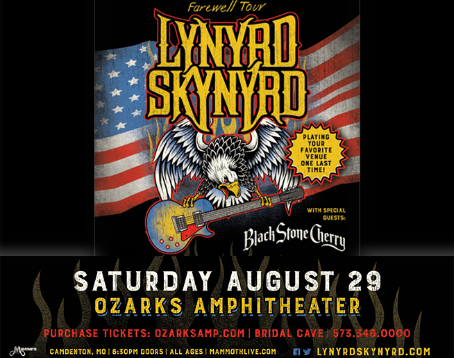 Lynyrd Skynyrd – Ozarks Amphitheater – Aug 29th