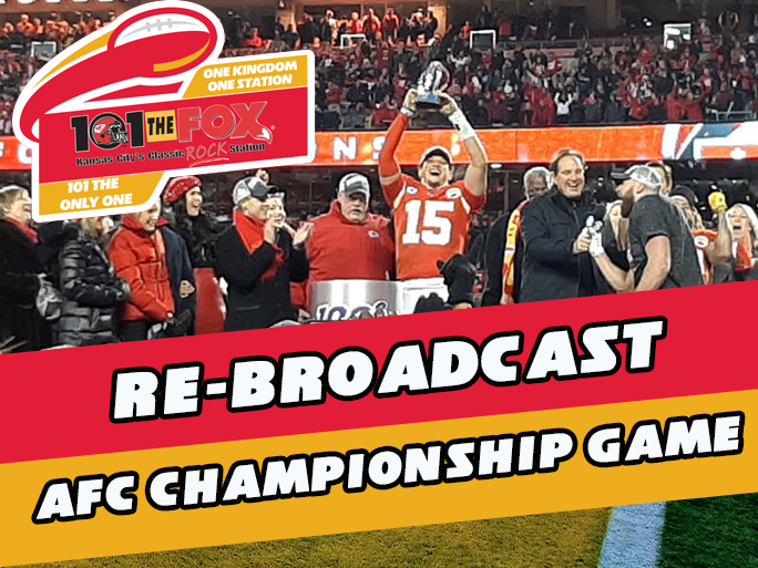RE-BROADCAST OF AFC CHAMPIONSHIP GAME THIS SUNDAY AT 2:05