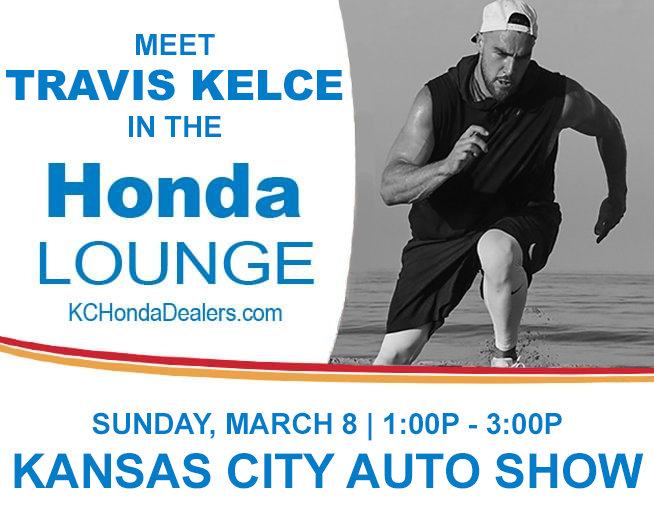 Meet Travis Kelce in the Honda Lounge at the KC Auto Show!