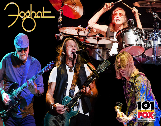 101 The Fox Presents Foghat Aug. 1 at Cass County Fairgrounds!