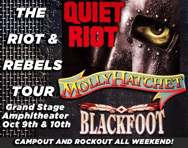 The Riot and Rebels TOUR Featuring Quiet Riot, Molly Hatchet and Blackfoot