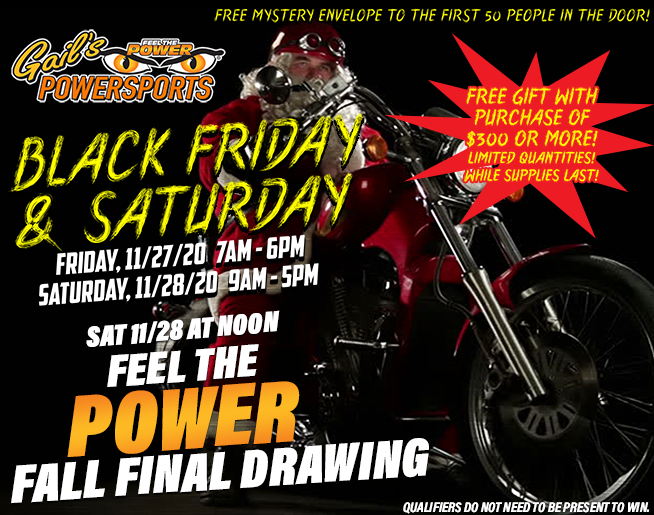 Gail's Black Friday and Saturday – FEEL THE POWER FINAL EVENT GIVEAWAY