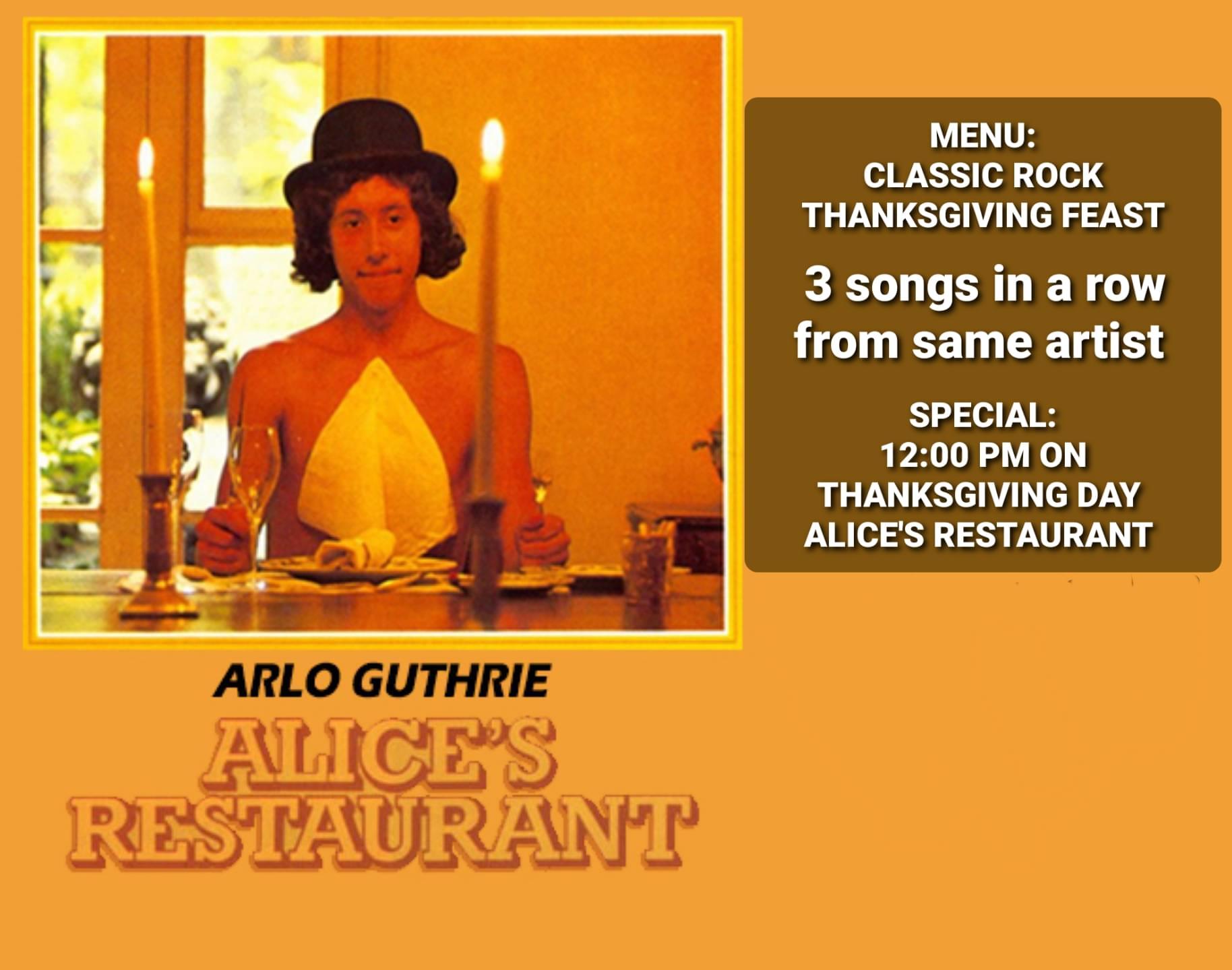 Alice's Restaurant on Thanksgiving