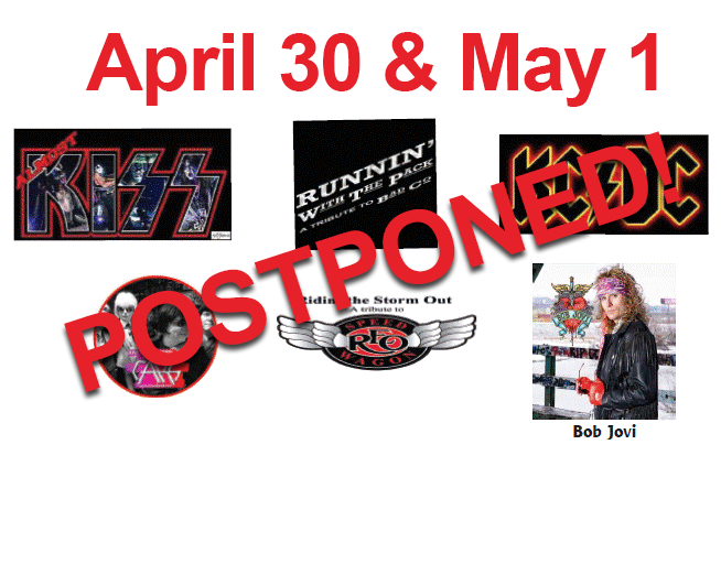 Tribute Shows // April 30th & May 1st – POSTPONED