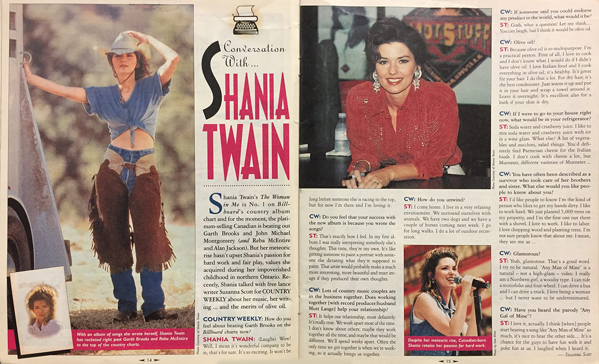 A Conversation With . . . Shania Twain (1995)