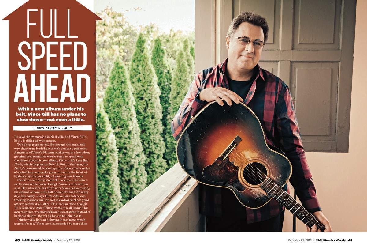 "Vince Gill Goes Full Speed Ahead with New Album, ""Down To My Last Bad Habit"""