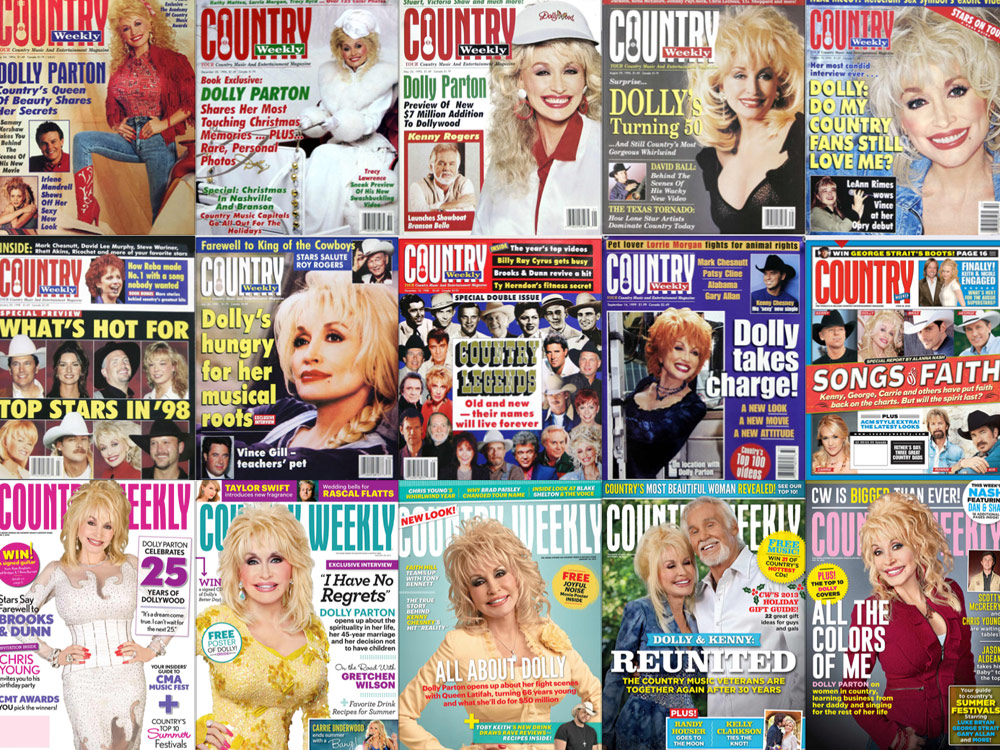 "Throwback Thursday: In Honor of Dolly Parton's Birthday Today, Check Out 25 ""Country Weekly"" Magazine Covers Featuring the Icon"