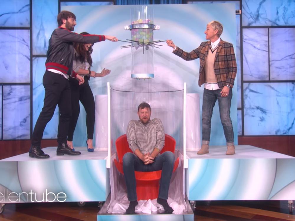 """Watch Lady Antebellum's Charles Kelley Get Soaked in """"Oops! My Water Broke"""" on """"Ellen"""""""