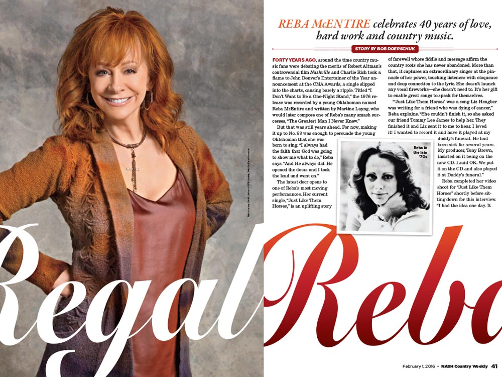 Reba McEntire Celebrates 40 Years of Love, Hard Work and Country Music