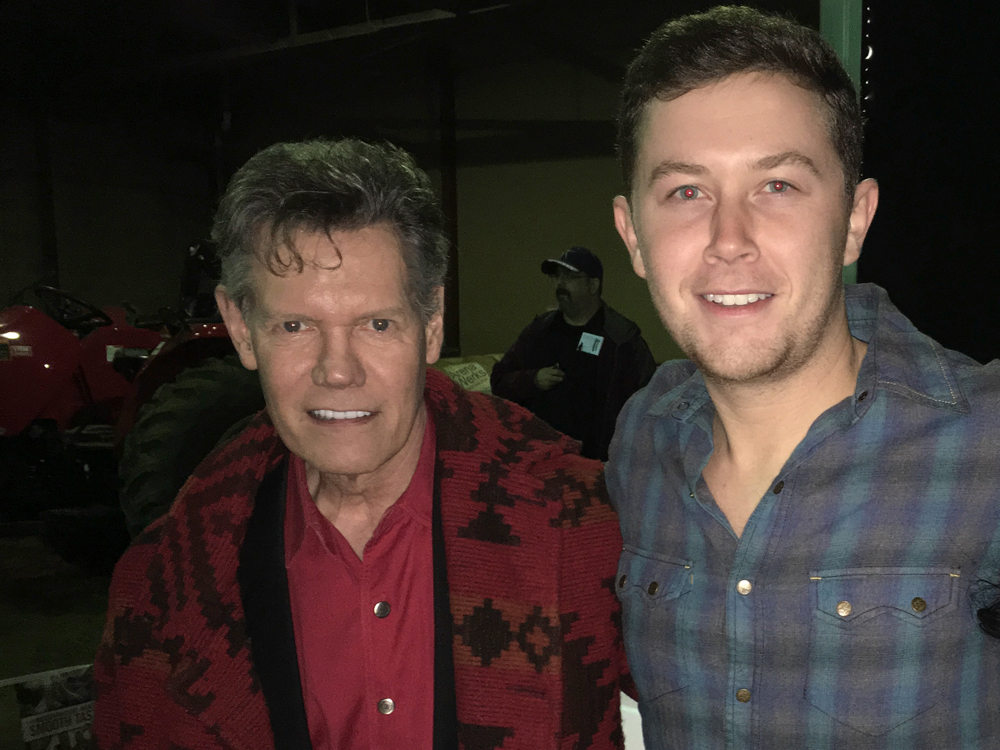 Randy Travis Surprises Scotty McCreery Before His First Concert of the Year