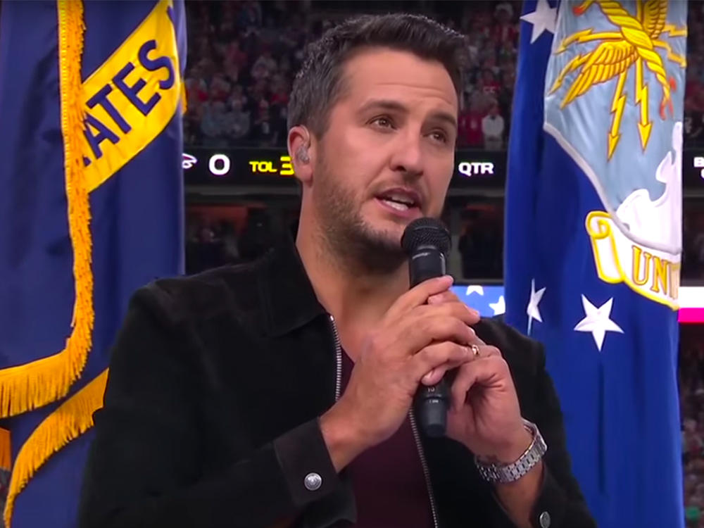 Watch Luke Bryan Nail the National Anthem at Super Bowl LI