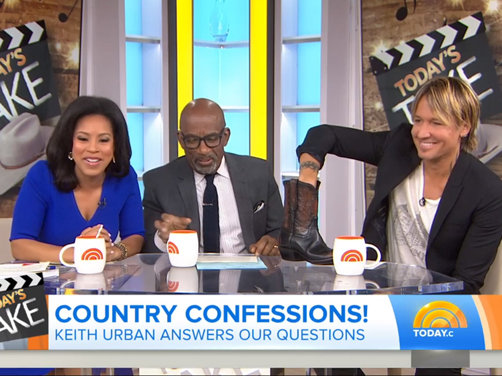 """Keith Urban Co-Hosts """"Today"""" Show & Reveals His Most Embarrassing Celebrity Encounter"""