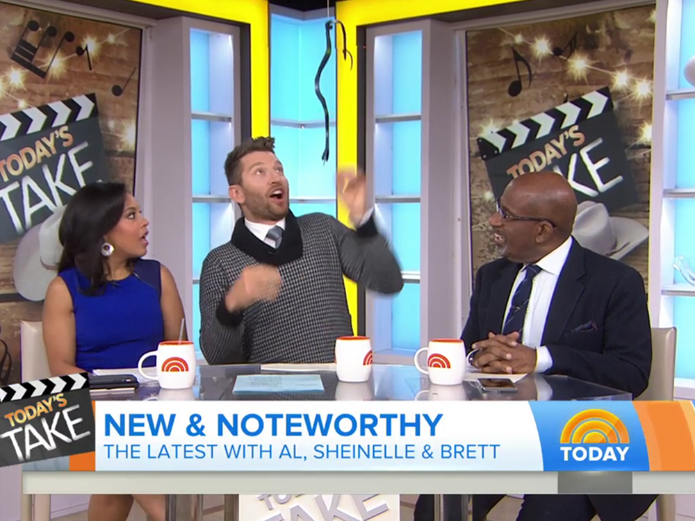 "Watch Brett Eldredge's Priceless Reaction to Fake Snake Prank on ""Today"" Show"