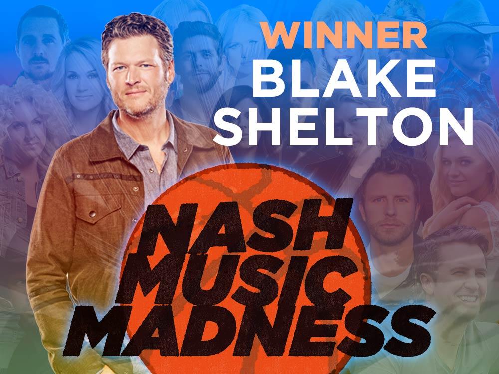 Blake Shelton Wins 3rd Annual Nash Music Madness Championship
