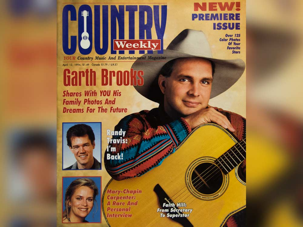 "23 Years Ago Today, ""Country Weekly"" Magazine Premiered With Garth Brooks, Randy Travis & the Tush Push [Check Out the Pics]"