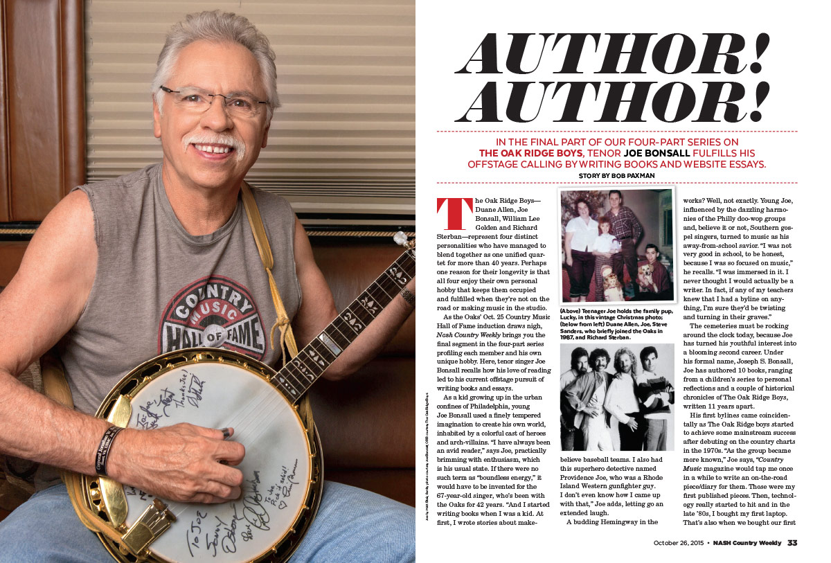 Joe Bonsall of the Oak Ridge Boys: Author! Author!