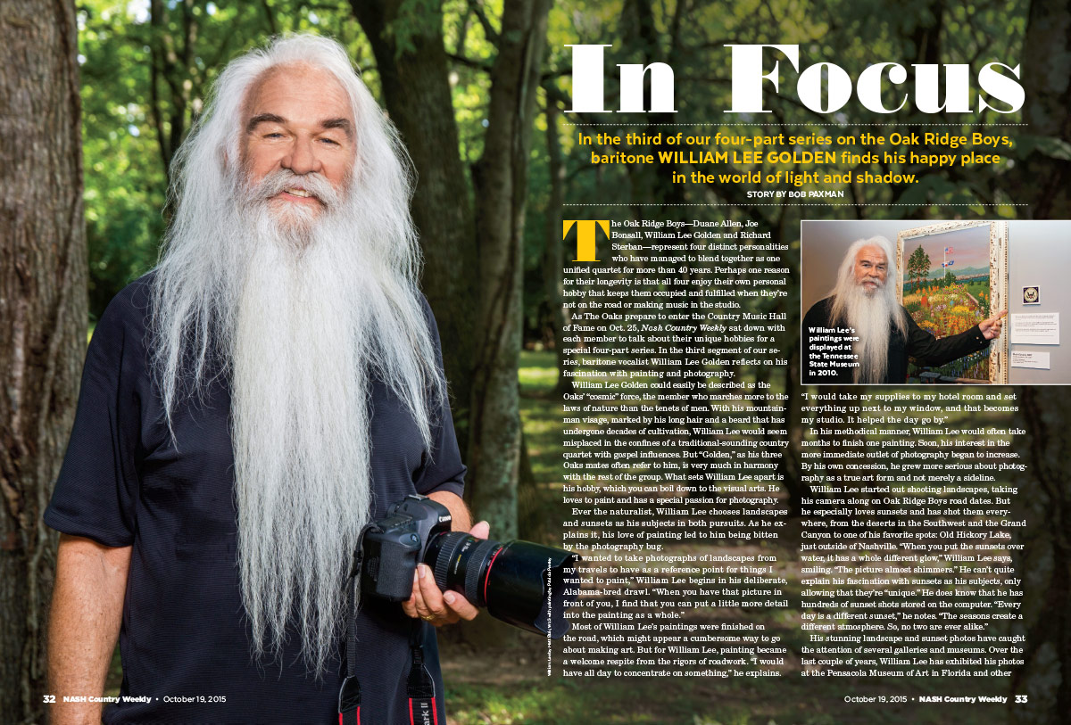 William Lee Golden of the Oak Ridge Boys: In Focus
