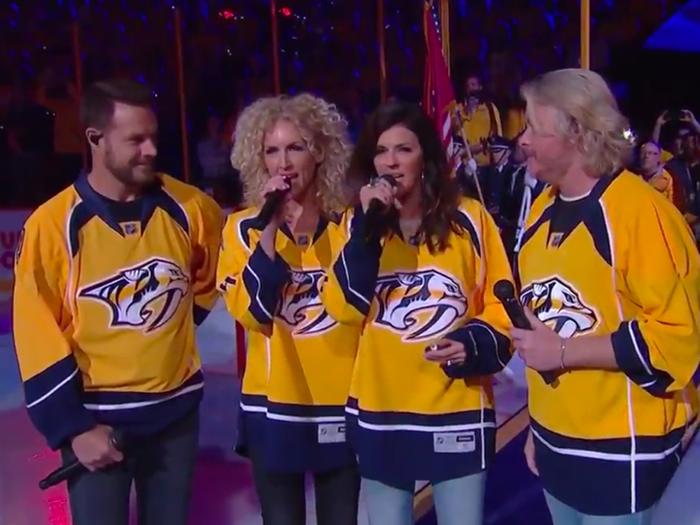 Watch Little Big Town's Sterling Rendition of the National Anthem Before the Nashville Predators Playoff Game