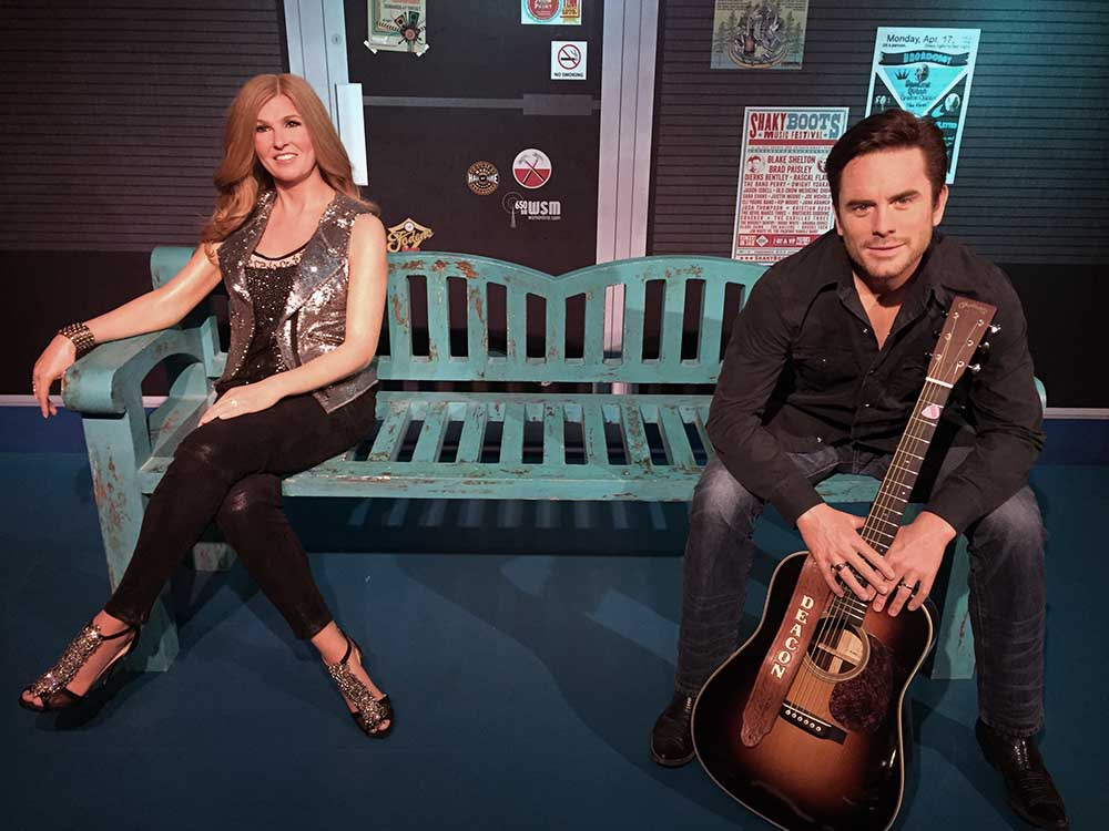 "Rayna James and Deacon Claybourne of ""Nashville"" Immortalized in Wax at Madame Tussauds"