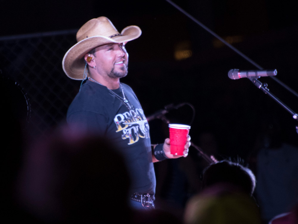 Jason Aldean Surprises Fans With Unannounced Show Outside the Hall of Fame [Photo Gallery]